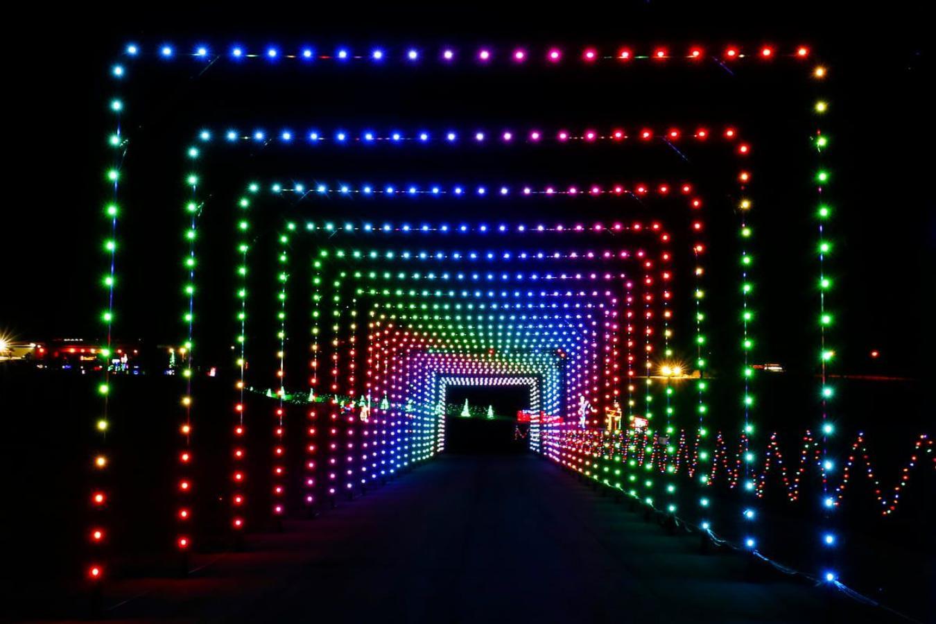 Texas Motor Speedway Christmas Lights 2021